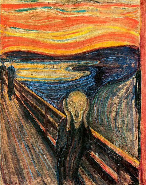 el grito, Munch, miedo, terror, fobia, susto, eduard munch, the scream,